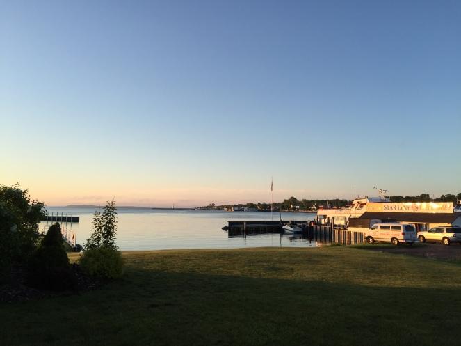 zonsopgang bij Lake Huron